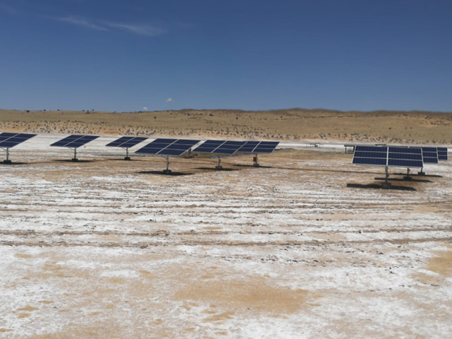 Solar Panel To Supply Water To The Salt Pans Agri Solar
